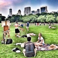 Photo taken at Sheep Meadow - Central Park by Cat H. on 7/27/2013