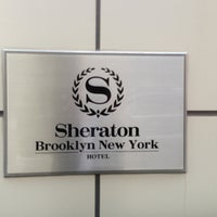 Photo taken at Sheraton Brooklyn New York Hotel by E on 3/29/2013