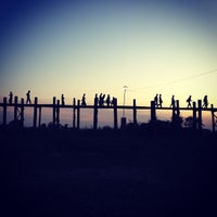 Photo taken at ဦးပိန် တံတား U Bein Bridge by Kittipong T. on 1/1/2013