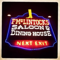 Photo taken at F.McLintocks Saloon & Dining House by Dan U. on 2/23/2014