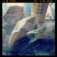 Photo taken at Which Wich? Superior Sandwiches by Rebecca R. on 8/20/2012