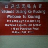Photo taken at Kuching Bus Terminal by Mohamad Haffiz H. on 3/2/2012