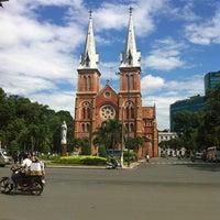 Photo taken at Saigon Notre-Dame Basilica by Tine C. on 7/30/2012
