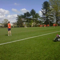 Photo taken at Bruder Turf Field by Sarah K. on 4/26/2011