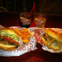 Photo taken at Red Robin Gourmet Burgers by Alex B. on 5/12/2012