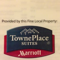 Photo taken at TownePlace Suites by Marriott by Eddie L. on 5/17/2013