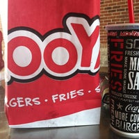 Photo taken at MOOYAH Burgers, Fries & Shakes by Sandy G. on 3/18/2013