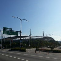 Photo taken at Seoul Worldcup Stadium by Jonathan K. on 10/2/2012