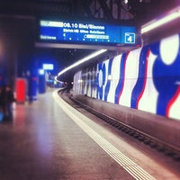 Photo taken at Zurich Airport Railway Station by Айсберг-Вайсберг A. on 2/28/2013
