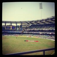 Photo taken at Wankhede Stadium by Nivedita V. on 11/28/2012