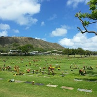 Photo taken at Diamond Head Memorial Park Cemetery by Chie F. on 5/16/2013
