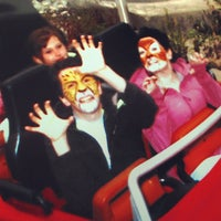 Photo taken at Backlot Stunt Coaster by John L. on 10/13/2012