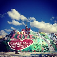 Photo taken at Salvation Mountain by Vera M. on 12/14/2012