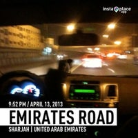 Photo taken at Sheikh Mohammed Bin Zayed Road شارع الشيخ محمد بن زايد by Walter d. on 4/13/2013