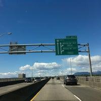 Photo taken at Oak Street Bridge by Steven L. on 4/29/2013