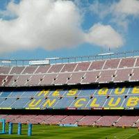 Photo taken at Camp Nou by Zahira I. on 6/3/2013