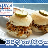 Photo taken at Papa's Bar -B -Que & Seafood by Papa's BBQ & Seafood on 1/10/2014