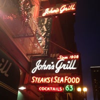 Photo taken at John's Grill by Harry H. on 12/8/2012
