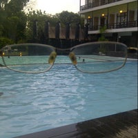 Photo taken at Mesra Hotel Swimming Pool by Dwi K. on 8/4/2014