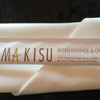 Photo taken at Makisu Sushi Lounge & Grill by Anne A. on 6/3/2013