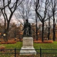 Photo taken at Fitz Greene Halleck Statue by Jeff M. on 12/8/2012
