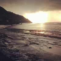 Photo taken at Pantai Pandawa (Pandawa Beach) by aryo a. on 4/16/2013