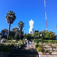 Photo taken at Virgen Cerro San Cristóbal by Nathalia U. on 12/26/2012