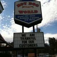 Photo taken at Hot Dog World by Carrie A. on 11/23/2012