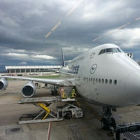 Photo taken at Lufthansa Flight LH 419 by Jace C. on 7/7/2013