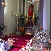 Photo taken at Iglesia Santa Eduvigis by Vincent G. on 3/29/2013
