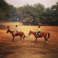 Photo taken at Delhi Riding Club by Hiroshi O. on 12/30/2012