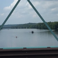 Photo taken at New Hope-Lambertville Toll Supported Bridge by Larry P. on 8/6/2016