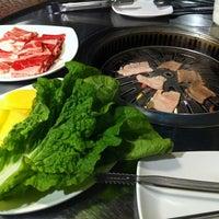 Photo taken at Blue Garden Korean BBQ Restaurant by Berenice on 12/8/2012