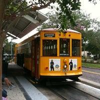Photo taken at TECO Line Streetcar - Centennial Park Station by Josh K. on 9/21/2012