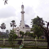Photo taken at Masjid Agung At-Tin by Randi A. on 7/13/2013