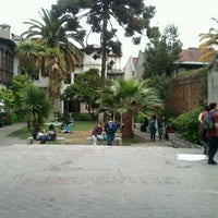 Photo taken at Universidad Alberto Hurtado by Esteban R. on 10/23/2012