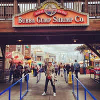 Photo taken at Bubba Gump Shrimp Co. by Damien F. on 5/6/2013