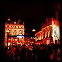 Photo taken at Piccadilly Circus by Shrimpress on 5/13/2013