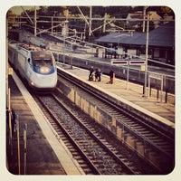 Photo taken at MBTA Canton Junction Station by iamreff on 10/8/2013