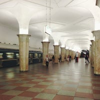 Photo taken at metro Kropotkinskaya by Ksenia F. on 7/11/2013