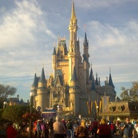 Photo taken at Cinderella Castle by Pam A. on 2/15/2013