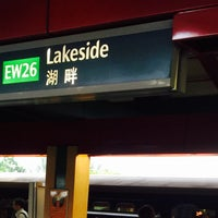 Photo taken at Lakeside MRT Station (EW26) by Helio C. on 6/6/2016