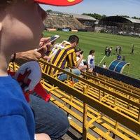 Photo taken at Estadio Don León Kolbowski - Club Atlético Atlanta by Le@n on 11/8/2015