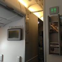 Photo taken at Lufthansa Flight LH 720 by Stefan R. on 5/4/2013