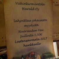 Photo taken at Viikinkiravintola Harald by Jonna M. on 1/15/2014