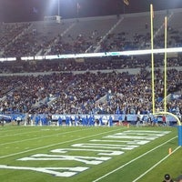 Photo taken at Commonwealth Stadium by Laura K. on 10/20/2012