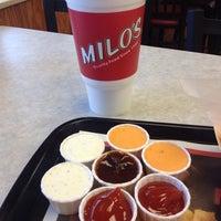 Photo taken at Milo's Hamburgers by Jasmine L. on 11/9/2013
