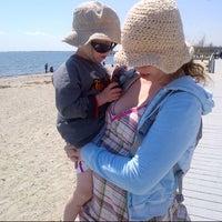 Photo taken at Silver Sands State Park Boardwalk by Maya B. on 5/3/2014
