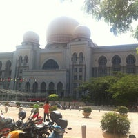 Photo taken at Istana Kehakiman (Palace of Justice) by Pok C. on 10/3/2012