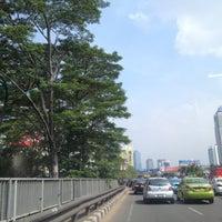 Photo taken at Jembatan Semanggi by Jhoni W. on 10/16/2012